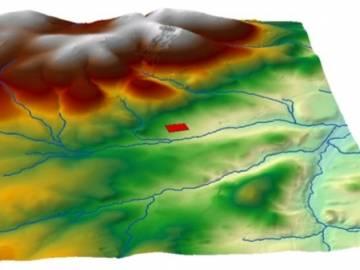 Red de drenaje en 3D, claro ejemplo de la utilidad de los SIG a nivel básico