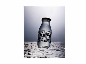 Botella vidrio Refix