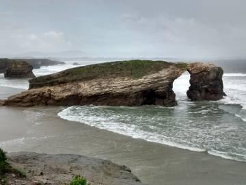 La Playa de Las Catedrales con marea baja